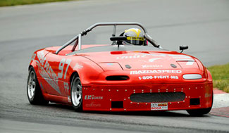 BHJ Mazda Miata Race Special Harmonic Damper in Eric Prill's F Production Miata