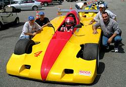 BHJ Mopar 3.3 liter V6 Harmonic Damper in Shelby Can Am Race Car at Daytona